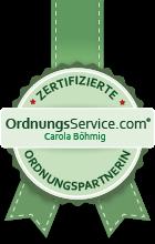 Zertifikat zur Ordnungspartnerin - Meike Suhre